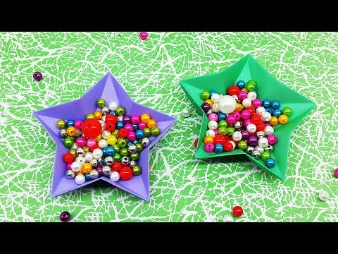 Paper Craft Idea | Origami Star Dish | How To Make Paper Bowl DIY Easy Tutorial