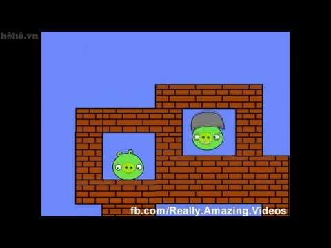 Mario và angry bird trong cùng 1 game :))