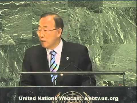 United Nations Secretary-General Ban Ki-moon, September 25th 2012 Speech