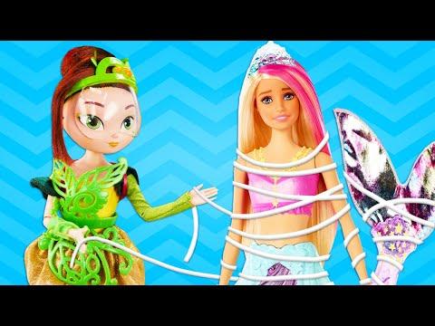 Куклы Сказочный Патруль напикнике —Волшебницы Аленка, Маша иКОРОЛЕВА РУСАЛОК! —Новые приключения