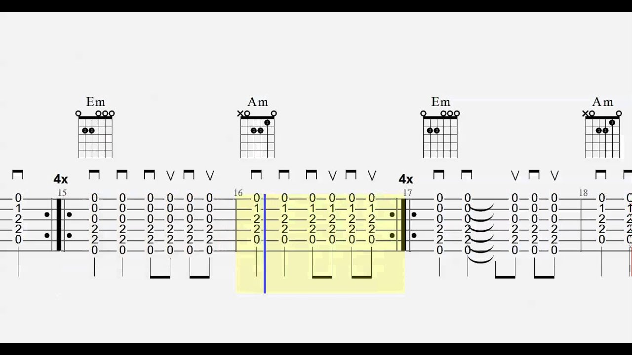 Guitar Chord Practice Em To Am Play Along Youtube