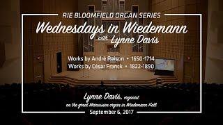 Wednesdays in Wiedemann with Lynne Davis - September 6, 2017