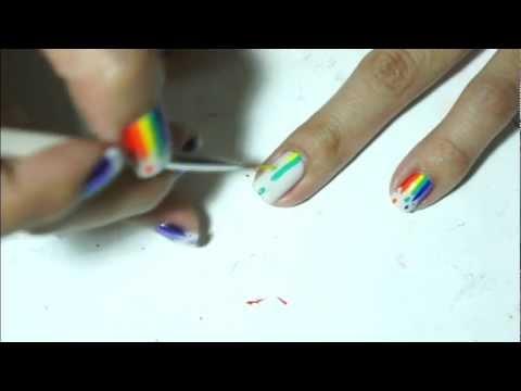 Dripping Rainbow Nail Art Tutorial thumbnail