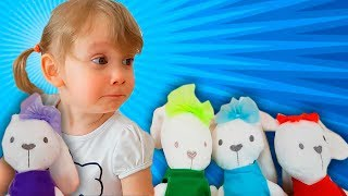 Alena learn numbers with play Rabbit