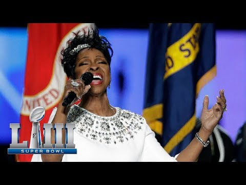 Sherry Mackey - Gladys Knight Sings National Anthem at the Big Game
