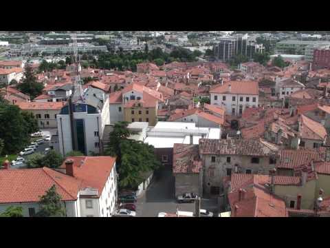 Koper - Slovenia from belfry (RTV, Sodišče, Študentski dom, Luka, Zvonik)