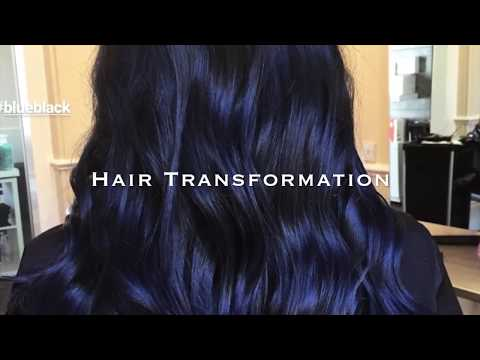 Vlog: Hair Transformation : Blue Black Hair Trend