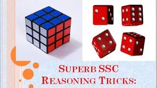 SSC CGL Preparation 2017 & CPO, CHSL Reasoning Tricks: Cube & Dice – I
