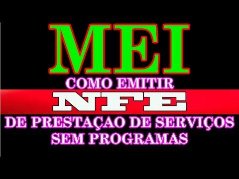 MEI - Como Emitir NFE de Prestação de Serviços Gratuitamente Sem Programas