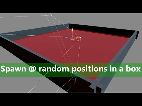 [Unity 5] Tutorial: How to spawn objects at random position in a given area