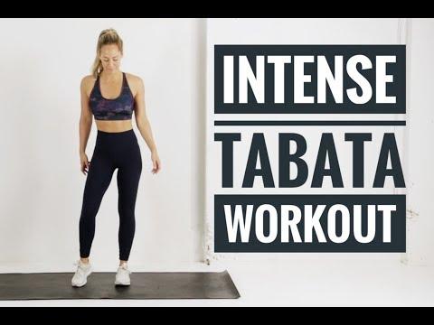 12 Minute Full Body TABATA Workout // INTENSE No equipment workout