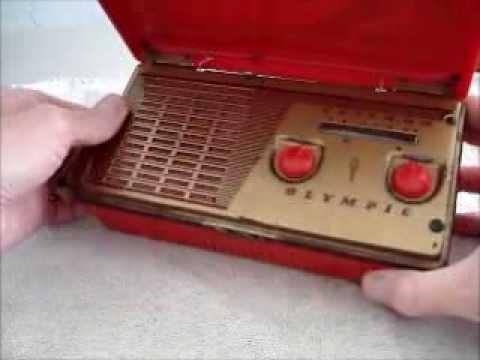 Olympic Model 449 Portable Tube Radio Set