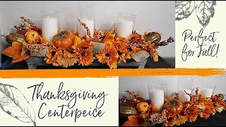 Centerpiece For Thanksgiving! Don't Buy! Make your OWN BEAUTIFUL Thanksgiving / Fall Centerpiece!