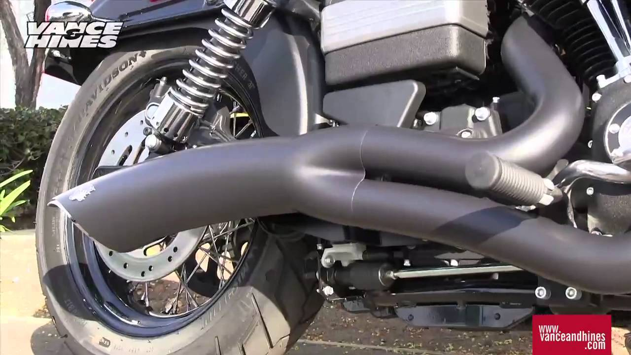 Vance & Hines Black Big Radius 2-into-1 Exhaust System | Available at J&P Cycles