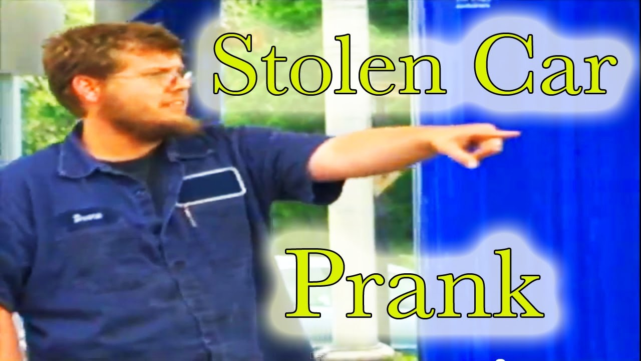 Funny Stolen Car Prank - Tom Mabe - YouTube