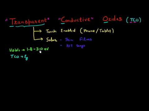 Transparent conductive oxides for solar cells: part 1