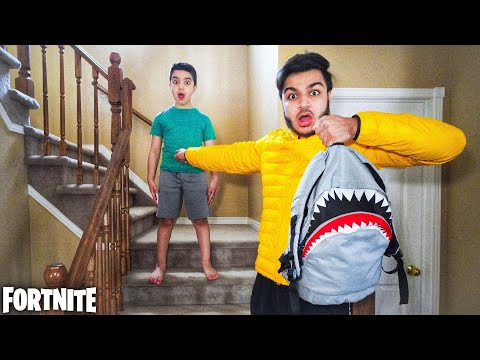 I CAUGHT MY LITTLE BROTHER SKIPPING SCHOOL TO PLAY FORTNITE!