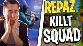 REPAZ has Aimbot? and takes Squad's honor! | Fortnite Highlights English