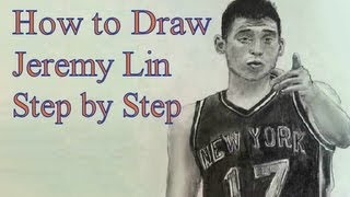 How to Draw Jeremy Lin Step by Step