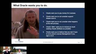 Jedi mind tricks by Oracle, what do they want you to do at the of the ULA?