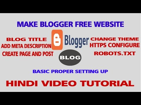 Make blogger website - Add meta tags,Title, description,keywords, pages,post,blogger hindi tutorial