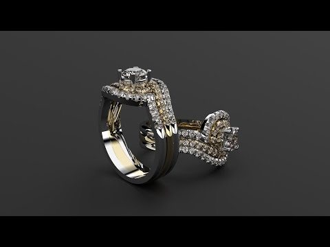 Learn on this free tutorial how to design step by step a solitaire and its matching wedding band.