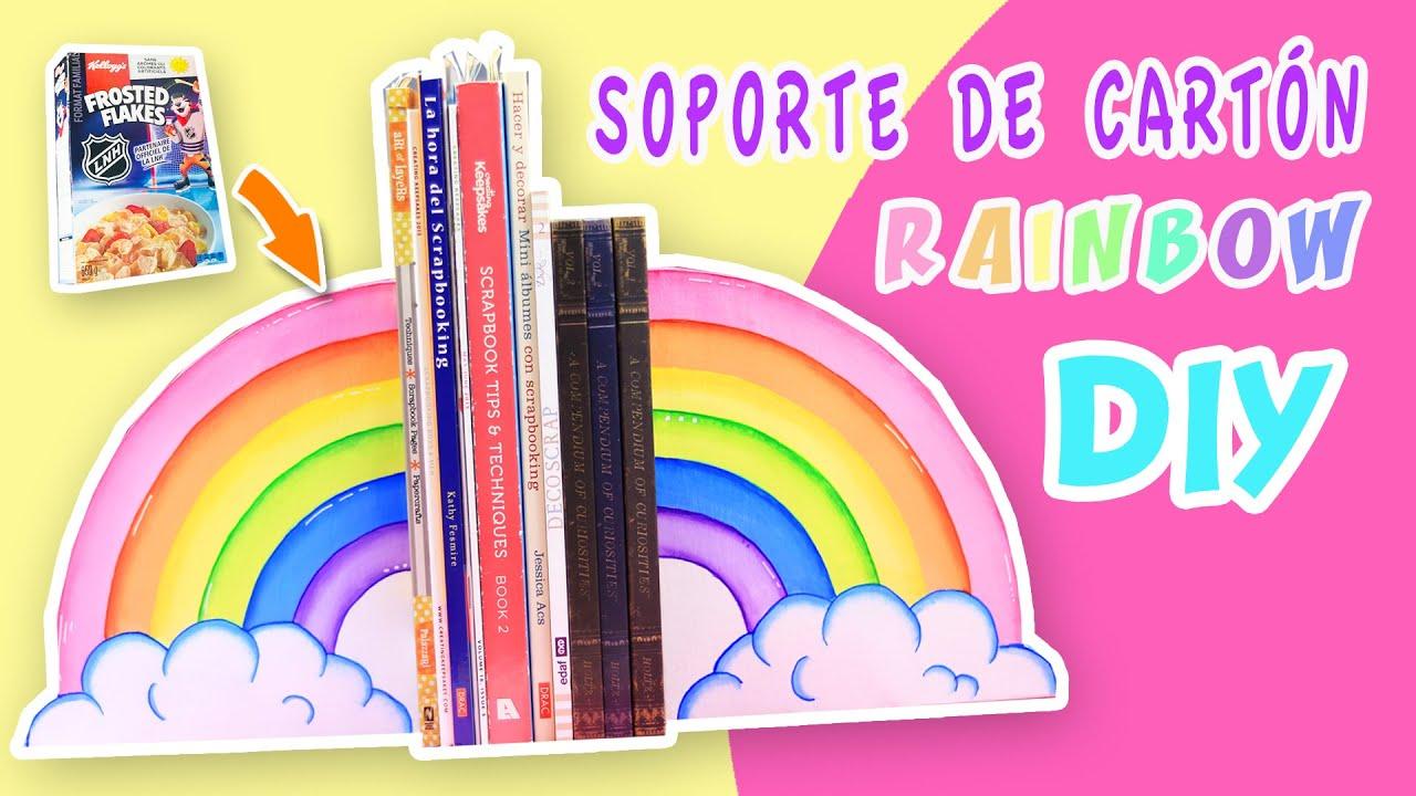 Soporte Para Libros de CARTÓN Arcoíris | Manualidades aPasos