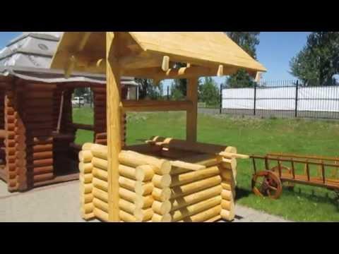 Как сделать деревянный сруб колодца, красиво и быстро. // Олег Карп
