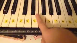 Lær at spille et barn er født i Betlehem på klaver easy