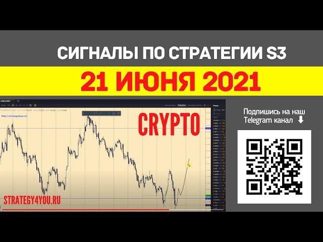 КРИПТО сигналы по стратегии S3 на 21 ИЮНЯ 2021