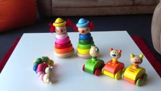 Toy Showcase 3: Teething Worms, Stacking Clowns, Squeaky Cars