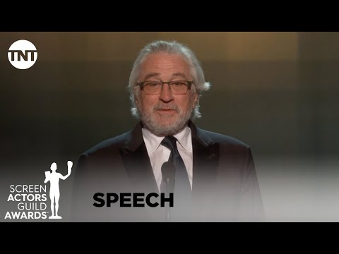 Robert De Niro: Award Acceptance Speech | 26th Annual SAG Awards | TNT