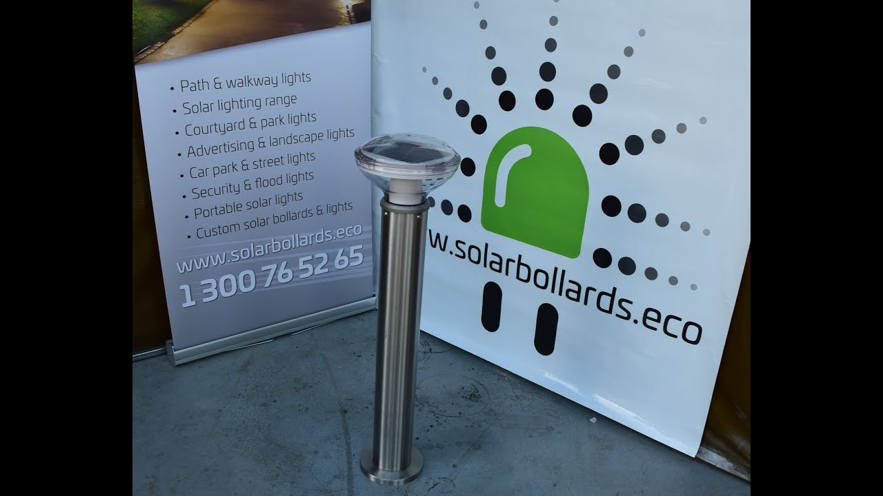 Atlas Vandal resistant solar bollard : ATLAS VANDAL