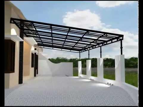 Pembuatan atap kanopi polycarbonat dan galvalum oleh bengkel las di jogja ARFIQ JAYA