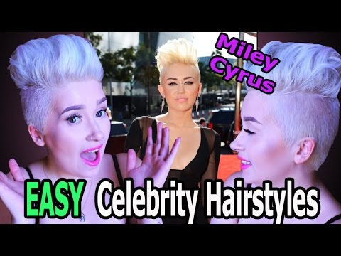 Miley Cyrus | EASY Celebrity Hairstyles | A Poisoned Production