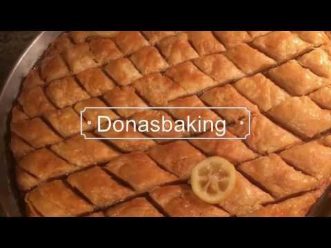 Homemade Albanian baklava (in English)
