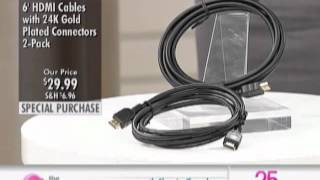 6FT HDMI Cable - Package at The Shopping Channel 369734