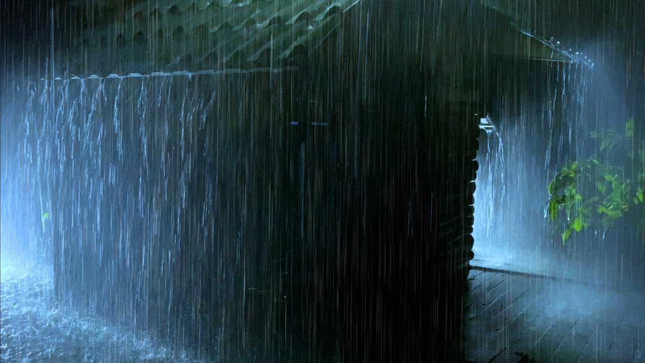 Sleep Instantly Within 15 Minutes with Heavy Rainstorm & Thunder on Ancient Barn in Forest at Night