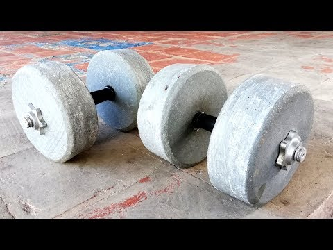 How to make cement dumbbells /weights (for gym at home)
