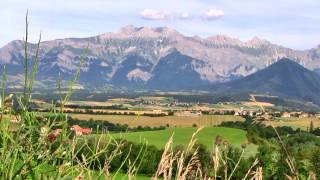 French Alps Mountain Scenery with cow bells' sounds