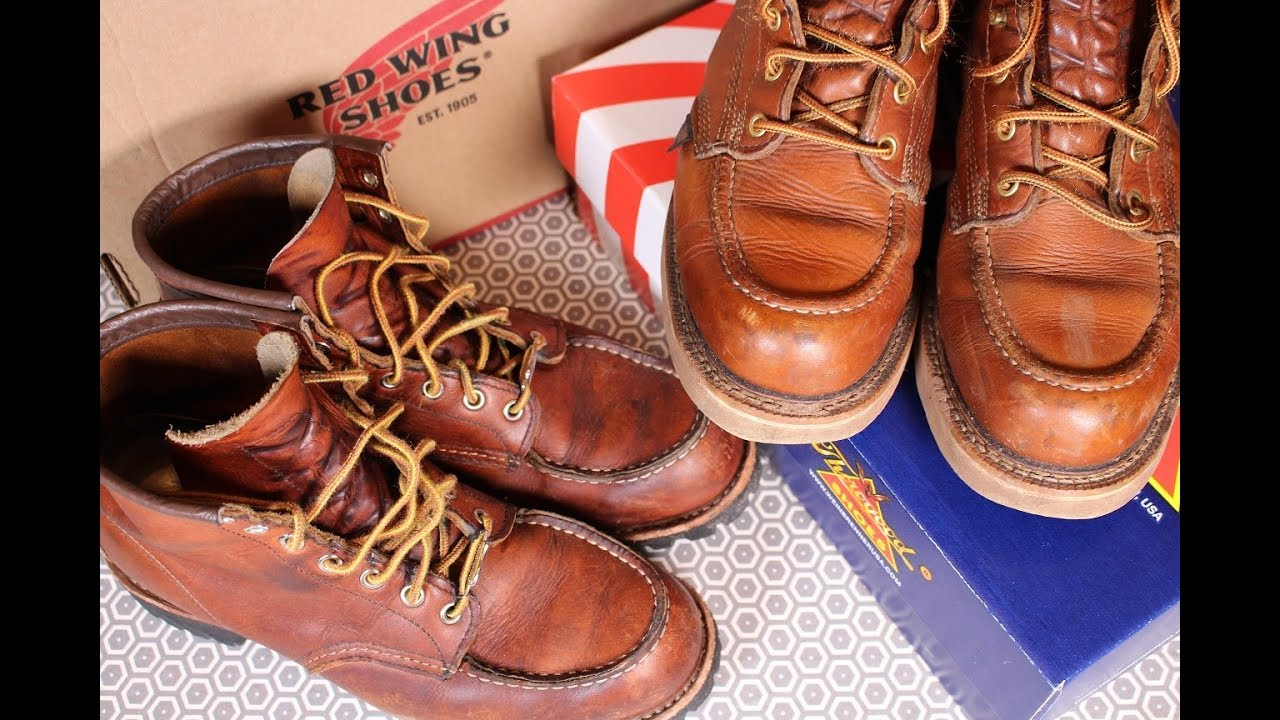 739e30c94f3 2 YEARS ON:RED WING Vs THOROGOOD - Which is the best moc toe boot?