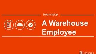 How to setup a Warehouse employee