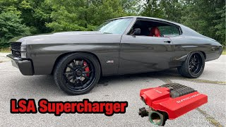 Supercharging My LS Swap Chevelle! LSA Supercharger Install