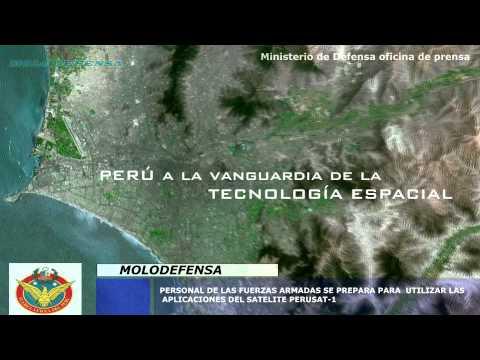 Personal de las fuerzas armadas se prepara para el satélite Peru sat-1