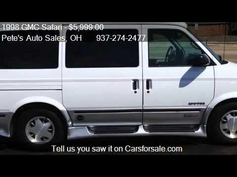 1998 GMC Safari High Top Conversion Van For Sale In Dayton