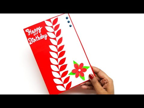 How to make Special Birthday Card for Best friend / Beautiful Handmade Birthday Greeting card idea