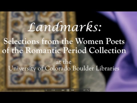 BWWC 2012 Landmarks: Women Poets of the Romantic Period