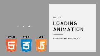 Build a Loading Animation in 10 Minutes in just HTML & CSS | Mini Projects | Dylan Israel