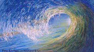How to Draw an Ocean Wave - Как нарисовать океанскую волну
