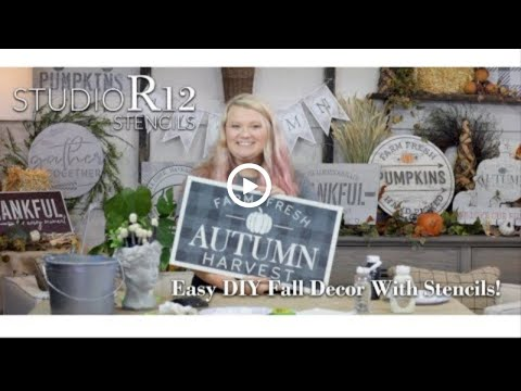 How to Paint Signs with Stencils | StudioR12 | Farm Fresh Autumn Harvest | Fall DIY Decor